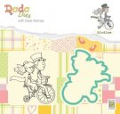 Nellies Choice DADA Die & Clear Stamp - Marriage Love on a Bike