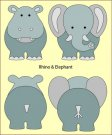 Nellies Choice DADA Baby Die - Rhino & Elephant (build-up)