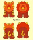 Nellies Choice DADA Baby Die - Tiger & Lion (build-up)