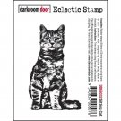 Darkroom Door Cling Stamp - Sitting Cat