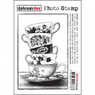 Darkroom Door Photo Cling Stamp - Teacups