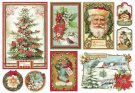 Stamperia 48x33cm Large Rice Paper Sheet - Christmas Vintage