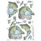 Stamperia A3 Rice Paper Sheet - Princess Lady Green