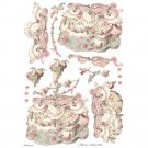 Stamperia A3 Rice Paper Sheet - Princess Lady Pink