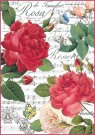 Stamperia A4 Rice Paper - Red Roses and Music