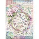 Stamperia A4 Rice Paper Sheet - Hortensia Clock