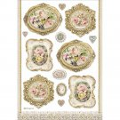 Stamperia A4 Rice Paper Sheet - Princess Frames