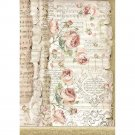 Stamperia A4 Rice Paper Sheet - Princess Roses & Music