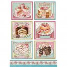 Stamperia A4 Rice Paper Sheet - Sweety Patisserie