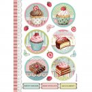 Stamperia A4 Rice Paper Sheet - Sweety Round Mini Cakes