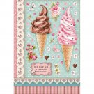 Stamperia A4 Rice Paper Sheet - Sweety Ice Cream