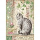 Stamperia A4 Rice Paper Sheet - Cat