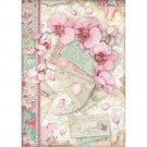 Stamperia A4 Rice Paper Sheet - Pink Orchid