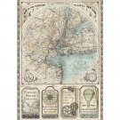 Stamperia A4 Rice Paper Sheet - Sir Vagabond Map Of New York