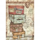 Stamperia A4 Rice Paper Sheet - Lady Vagabond Luggage
