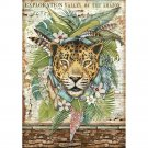 Stamperia A4 Rice Paper Sheet - Amazonia Jaguar