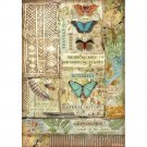 Stamperia A4 Rice Paper Sheet - Amazonia Butterfly