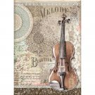 Stamperia A4 Rice Paper Sheet - Passion Violin