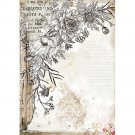 Stamperia A4 Rice Paper Sheet - Romantic Journal Stylized Flower
