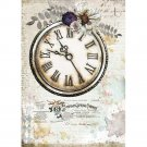 Stamperia A4 Rice Paper Sheet - Romantic Journal Clock