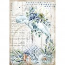 Stamperia A4 Rice Paper Sheet - Romantic Sea Dream Whale