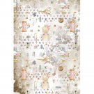 Stamperia A4 Rice Paper Sheet - Romantic Threads Embellishment