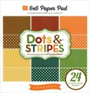 "Echo Park 6""x6"" Double-Sided Paper Pad - Fall Dots & Stripes (24 sheets)"