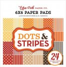 "Echo Park 6""x6"" Paper Pad - Fall Dots & Stripes (24 sheets)"