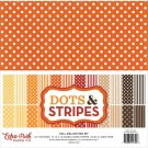 "Echo Park 12""x12"" Paper Pad Fall - Dots & Stripes (12 sheets)"