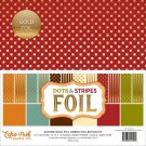 "Echo Park 12""x12"" Collection Pack - Dots-Stripes Autumn Combo with Gold Foil (12 sheets)"