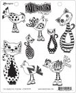 Dyan Reaveley´s Dylusions Cling Stamp Collection - Cat Among the Pigeons