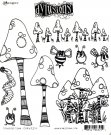 Dyan Reaveley's Dylusions Cling Stamp Collections - Toadstool Town