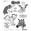 Dyan Reaveleys Dylusions Cling Stamp Collections - I Believe In Unicorns
