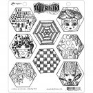 Ranger Dylusions Cling Stamps - A Heck of Hexies