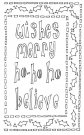 "Ranger 9""x12"" Dylusions Stencils - Ho Ho Holly"