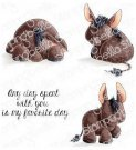 Stamping Bella Cling Stamps - Donkey Trio Stuffies