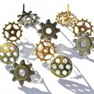 Eyelet Outlet Shape Brads - Gears (12 pack)