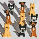 Eyelet Outlet Shape Brads - Puppies (12 pack)