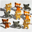 Eyelet Outlet Shape Brads - Kitties (12 pack)