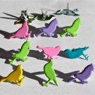 Eyelet Outlet Shape Brads - Pastel Sitting Birds (12 pack)