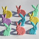 Eyelet Outlet Shape Brads - Pastel Rabbits (12 pack)