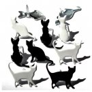 Eyelet Outlet Shape Brads - Silhouette Cat (12 pack)