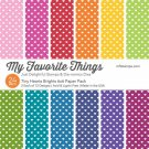 "My Favorite Things - Tiny Hearts Brights 6""x6"" Paper Pack"