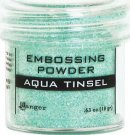 Ranger Embossing Powder - Aqua Tinsel