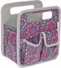 Everything Mary Makers Desktop Tote - Gray & Pink Print with Gray Trim