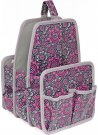 Everything Mary Makers Large Deluxe Caddy - Gray & Pink Print with Gray Trim