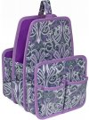 Everything Mary Makers Large Deluxe Caddy - Gray & Purple Paisley with Purple Trim