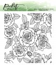 "Picket Fence Studios 4""x4"" Clear Stamps - Roses For All Seasons"