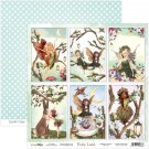 "ScrapBoys 12""x12"" Fairy Land Paper Sheet DZ FALA-06 190gr 30,5cmx30,5cm"