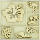 Kaisercraft Themed Mini Wooden Flourishes - Relax (30 pack)